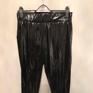 Black Vinyl Leggings